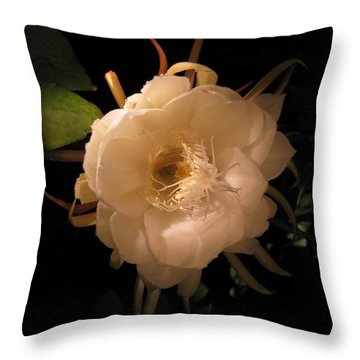 Flower Of The Night 01 Throw Pillow