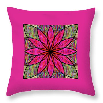 Throw Pillow featuring the photograph Flower On Rainbow Mandala By Kaye Menner by Kaye Menner