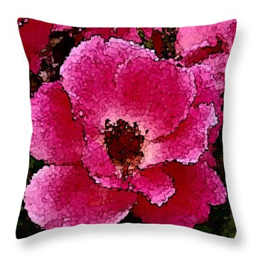 Flower Painting Collection 19 Throw Pillow