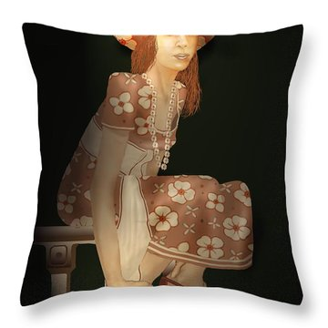 Flower Pirate Throw Pillow