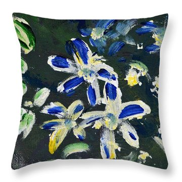 Flower Play Throw Pillow