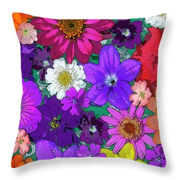 Flower Pond Vertical Throw Pillow