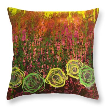 Flower Pops Throw Pillow