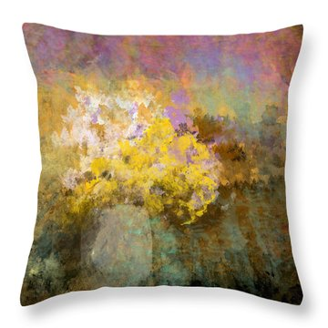 Flower Pot Throw Pillow by Jessica Wright
