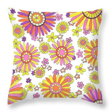 Flower Power 1 Throw Pillow