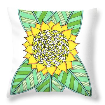 Flower Power 6 Throw Pillow