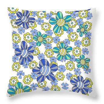 Flower Power 7 Throw Pillow