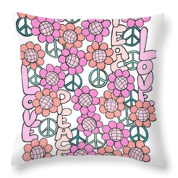 Flower Power 8 Throw Pillow