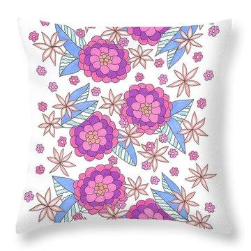 Flower Power 9 Throw Pillow