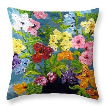 Flower Power Throw Pillow by Diane Arlitt