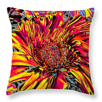 Flower Power II Throw Pillow