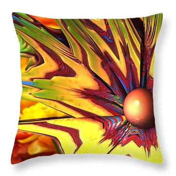 Flower Power Throw Pillow