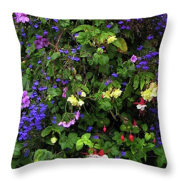 Flower Power Throw Pillow by Kurt Van Wagner