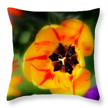 Throw Pillow featuring the photograph Flower Power by Martina  Rathgens