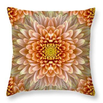 Flower Power Throw Pillow by Sumit Mehndiratta