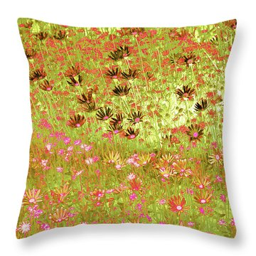 Flower Praise Throw Pillow by Linde Townsend