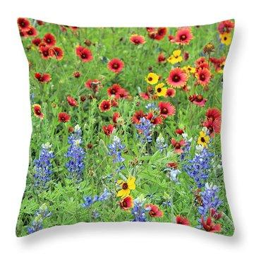 Flower Quilt Throw Pillow