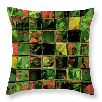 Flower Quilt Throw Pillow by Lenore Senior