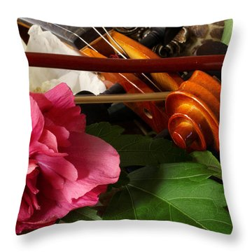 Flower Song Throw Pillow