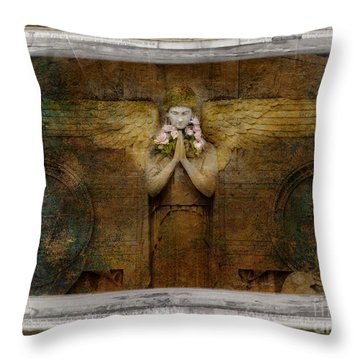 Throw Pillow featuring the photograph Flower Spes Angel by Craig J Satterlee