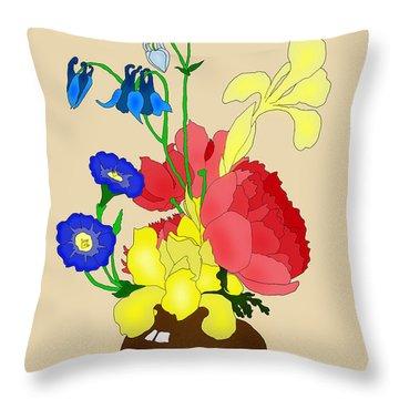 Floral Still Life 1674 Throw Pillow