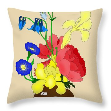 Floral Still Life 1674 Throw Pillow