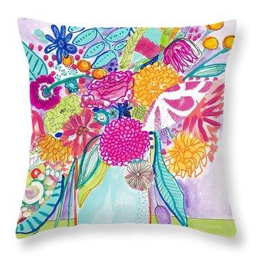Flower Still Life Throw Pillow