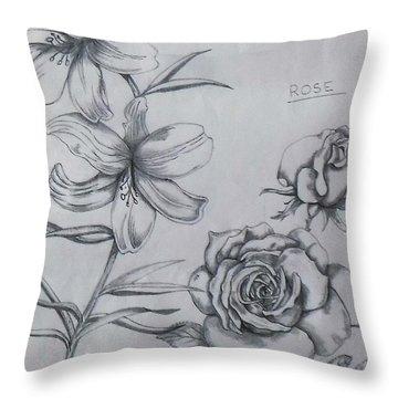 Flower Study 1 Throw Pillow
