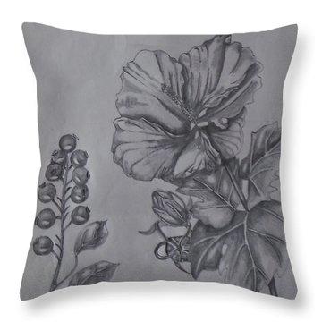 Flower Study 2 Throw Pillow