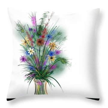 Flower Study One Throw Pillow
