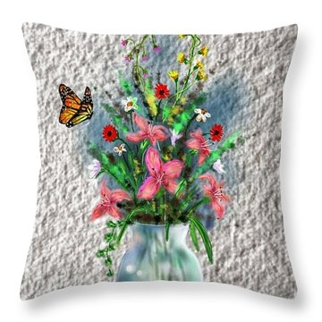 Flower Study Three Throw Pillow