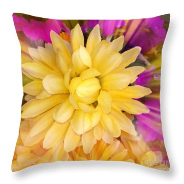 Flower Sunburst  Throw Pillow