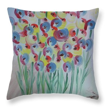 Flower Twists Throw Pillow