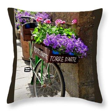 Flower Vendor  Florence Throw Pillow