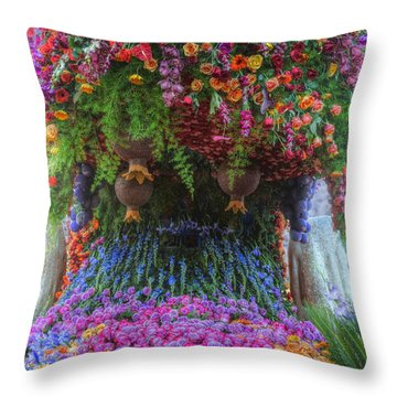 Flower Wave Throw Pillow