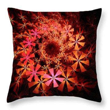 Flower Whirlpool Throw Pillow by Anastasiya Malakhova