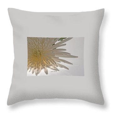 Flower-white Throw Pillow