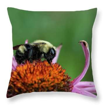 Flowerbee Throw Pillow