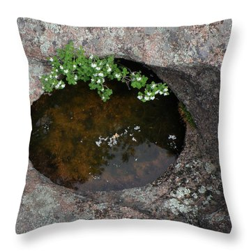 Flowering Bush Throw Pillow