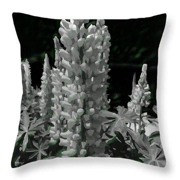 Flowering Green Aura Throw Pillow