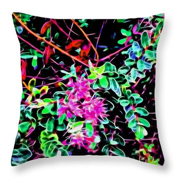 Flowering In Abstract 5 Throw Pillow