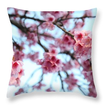 flowering of the almond tree, Jerusalem Throw Pillow by Yoel Koskas