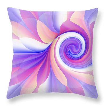 Flowering Pastel Throw Pillow