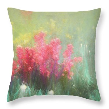 Throw Pillow featuring the photograph Flowering Prairie by James Barber