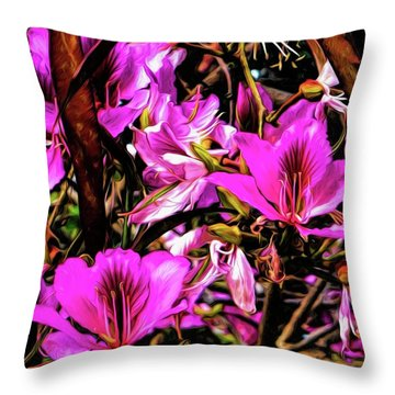 Flowering Tree 7 Throw Pillow