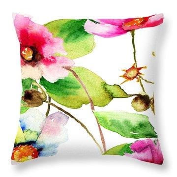 Flowers 03 Throw Pillow
