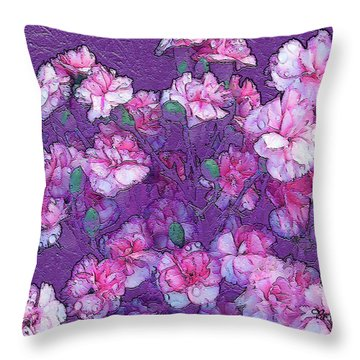 Flowers #063 Throw Pillow by Barbara Tristan