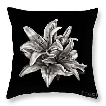 Flowers 8449 Throw Pillow by Walt Foegelle