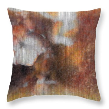 Flowers Abstract 1 Throw Pillow