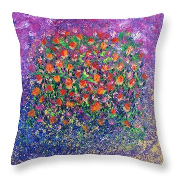 Flowers All Over Throw Pillow